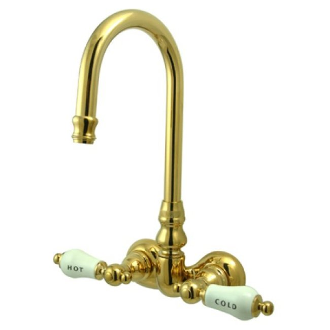 Kingston Brass CC73T2 Vintage 3 3 8 Center Wall Mount ClawFoot Tub Fauc