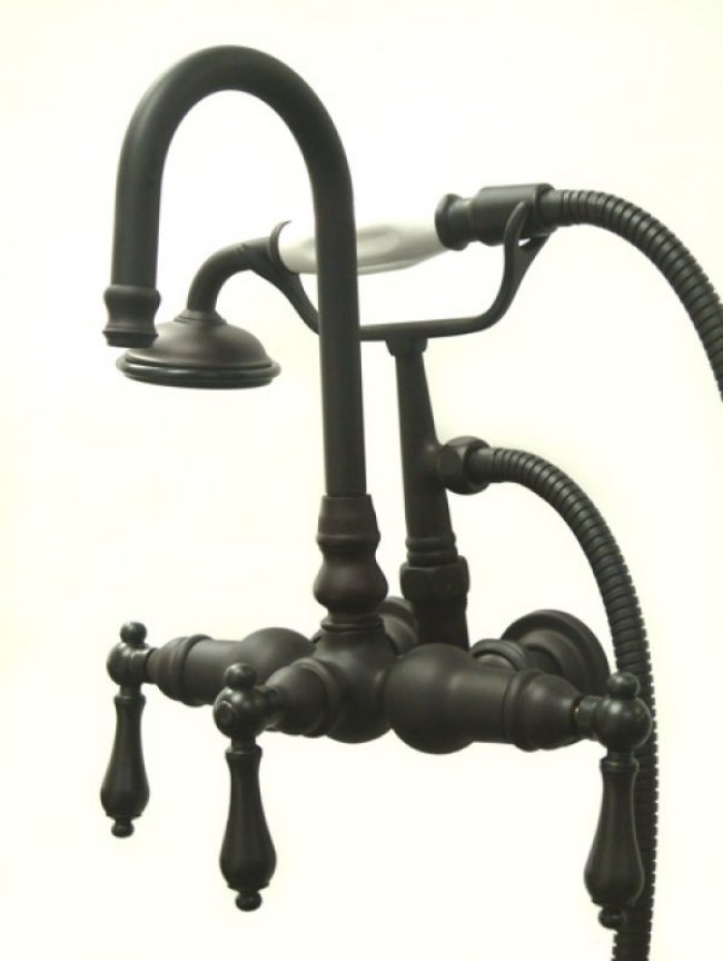 Kingston Brass Wall Mount ClawFoot Tub Faucet Hand Shower Oil Rubbed